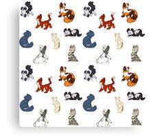 cat pattern Canvas Print
