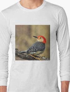Red Bellied Woodpecker - Exotic Colorful Wild Birds - Colors in Nature Long Sleeve T-Shirt
