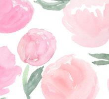 peach and blush peonies Sticker