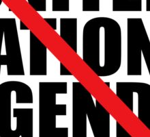 NO UNITED NATIONS AGENDA 21 Sticker