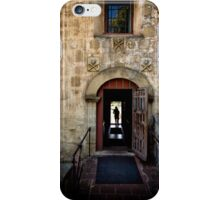 Old Mission in Santa Barbara Chapel Entry iPhone Case/Skin