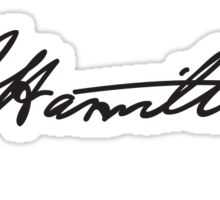 Hamilton Signature Sticker