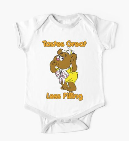 Muppet Babies - Fozzie Bear - Tastes Great - Sucking Thumb One Piece - Short Sleeve
