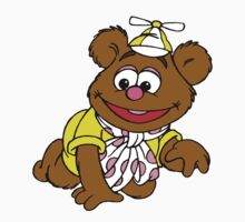 Muppet Babies - Fozzie Bear - Crawling One Piece - Long Sleeve