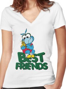 Muppet Babies - Gonzo & Camilla 01 - Best Friends Women's Fitted V-Neck T-Shirt