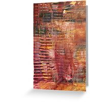 Firey Heatwave Acrylic Painting Greeting Card