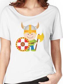 Little Viking Illustration Women's Relaxed Fit T-Shirt