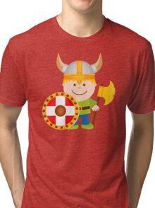 Little Viking Illustration Tri-blend T-Shirt
