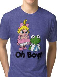 Muppet Babies - Kermit & Miss Piggy - Oh Boy Tri-blend T-Shirt