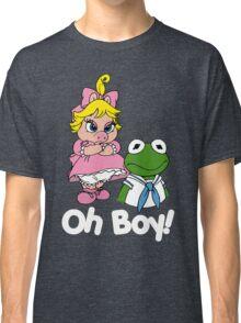 Muppet Babies - Kermit & Miss Piggy - Oh Boy - White Font Classic T-Shirt