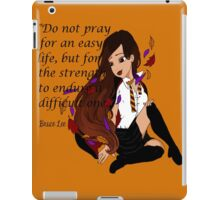 Brave and True, Follow Your Heart iPad Case/Skin