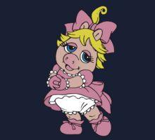 Muppet Babies - Baby Piggie One Piece - Long Sleeve