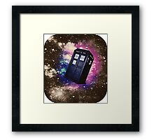 Extra Space-y TARDIS: Version 2 Framed Print