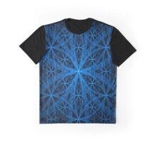 Blue Eternity Web Fractal Graphic T-Shirt
