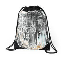 Chrome People Abstract Design Drawstring Bag