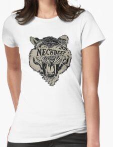 Neck Deep Logo Womens Fitted T-Shirt