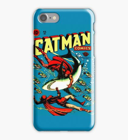 Vintage Catman Comic Book Cover no. 32  iPhone Case/Skin