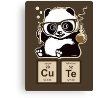 Chemistry panda discovered cute Canvas Print