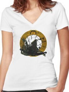Looking Through A Porthole Of Memories Women's Fitted V-Neck T-Shirt