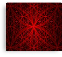Red Eternity Web Fractal Canvas Print