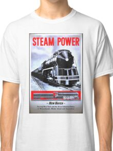 Steampower Vintage Style Train Art Classic T-Shirt
