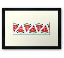 Watercolor Watermelon Framed Print