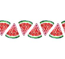 Watercolor Watermelon Photographic Print