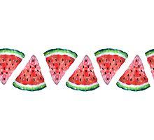 Watercolor Watermelon Photographic Print