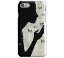 simplicity in green iPhone Case/Skin