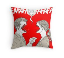 PSYCHO KILLER : FAFAFAFAFAFAFAFA Throw Pillow