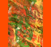 Earth Patterns - Sunset Stream Abstract Acrylic Painting  Unisex T-Shirt
