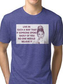 Good Girls - Audrey Hepburn Tri-blend T-Shirt