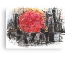 Apocalyptic Linescape Canvas Print
