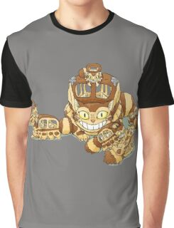 Cat Bus and The Kittens Car Graphic T-Shirt