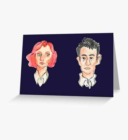 Agent Scully and Agent Mulder Greeting Card