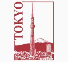 Tokyo-Sky Tree Kids Tee