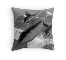SR-71 Blackbird Flying Throw Pillow