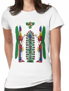 Assyrian Winged Genius Womens Fitted T-Shirt