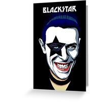 Black Star Greeting Card