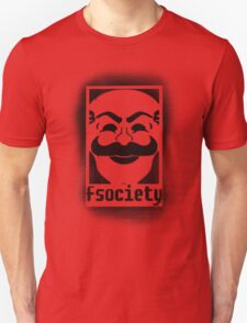 fsociety logo - black spray painted T-Shirt