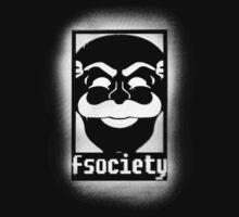 fsociety logo - white spray painted by DesignComa