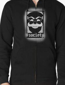 fsociety logo - white spray painted T-Shirt