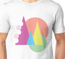 Colourful triangles and circles V.2 Unisex T-Shirt