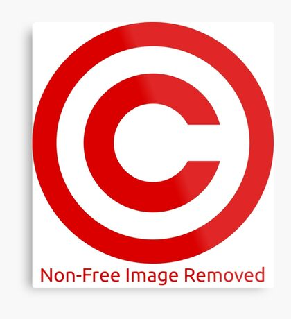 Non-Free Image Removed Copyright Infringement Metal Print