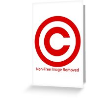 Non-Free Image Removed Copyright Infringement Greeting Card