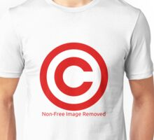 Non-Free Image Removed Copyright Infringement Unisex T-Shirt
