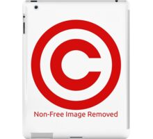 Non-Free Image Removed Copyright Infringement iPad Case/Skin