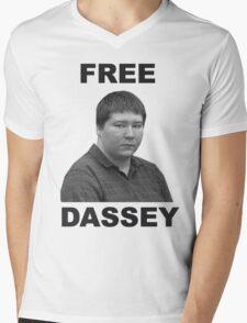 FREE BRENDAN DASSEY Mens V-Neck T-Shirt