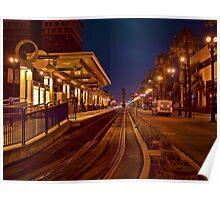 Metro Rail at twilight Poster