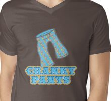 Funny Cranky Pants Design Mens V-Neck T-Shirt